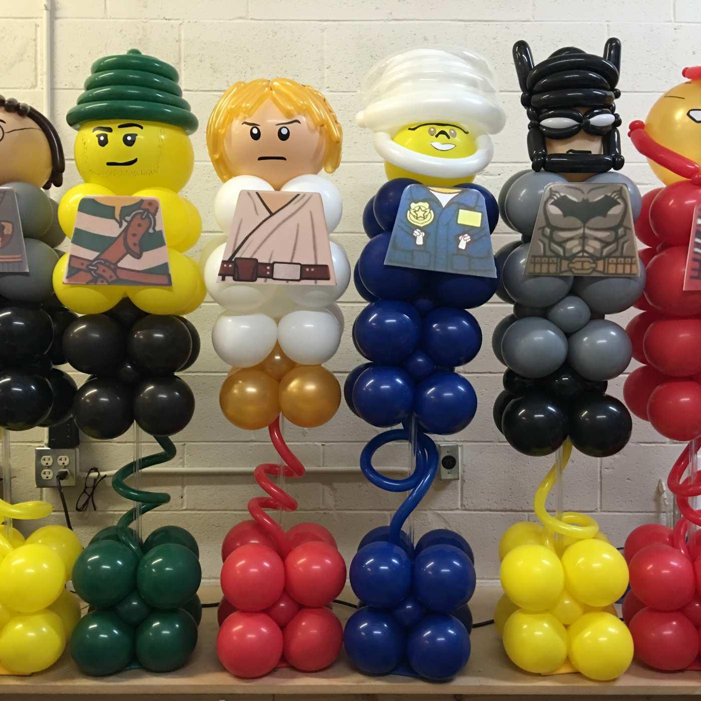 Lego Barmitzvah balloon centerpieces