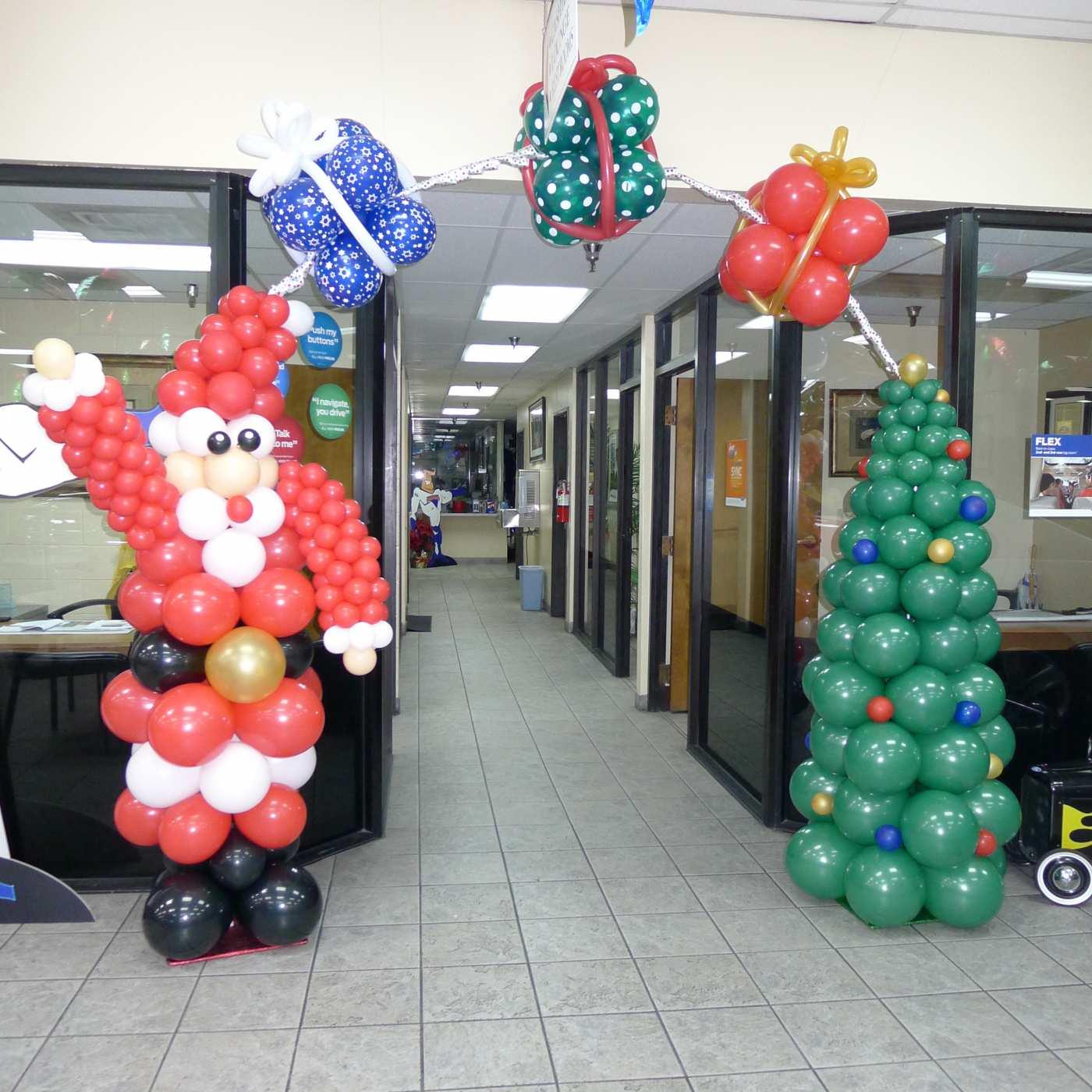Christmas tree and Santa arch