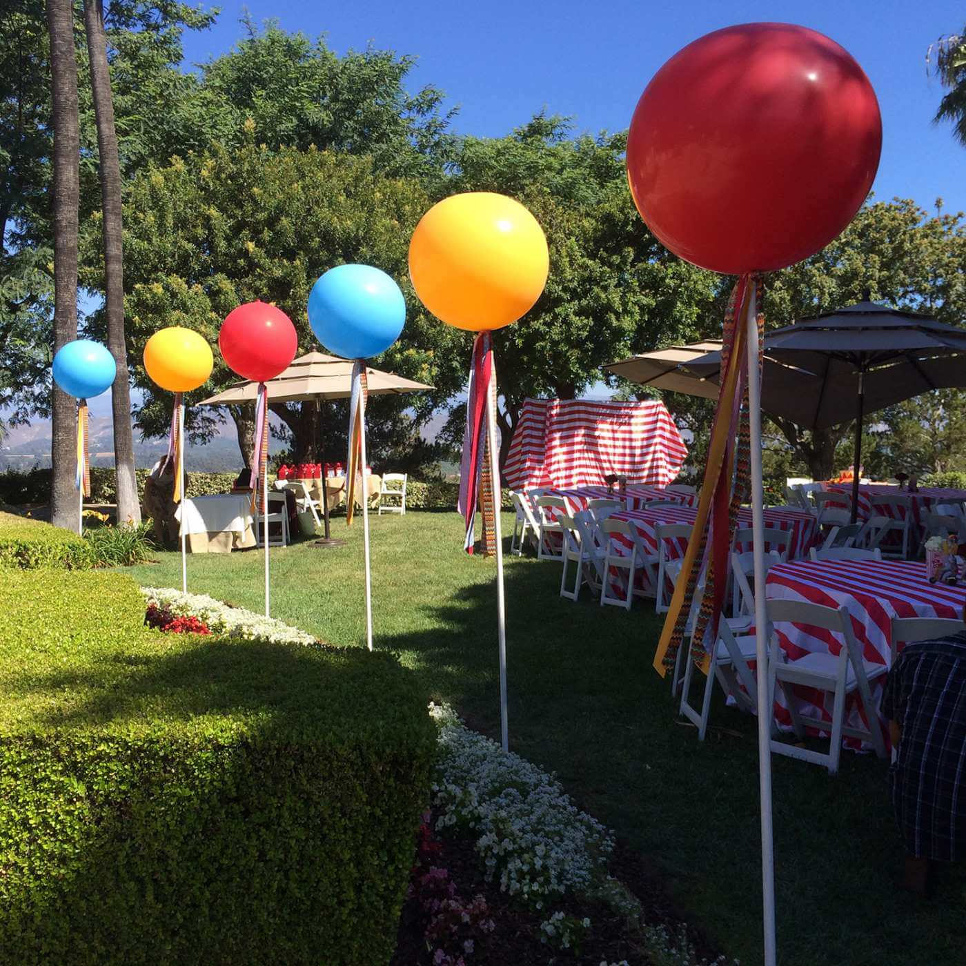 Lollipop party balloons