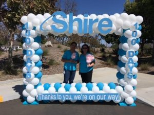 Shire corporate event personalized selfie station