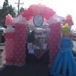 Cinderella and her castle balloon sculptures