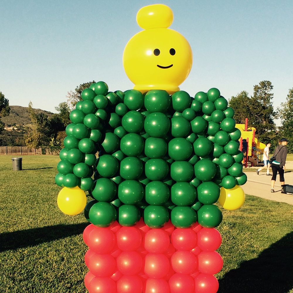Large Balloon Lego Man Sculpture